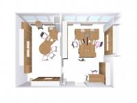 3D Ansicht von oben 3D office