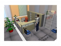 3D Büroansicht 3D office