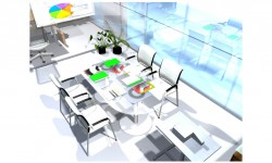 3D-Rendering 3D office